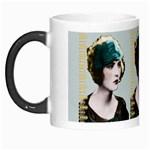 Art Deco Woman in Green Hat Morph Mug