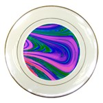 Psychedelic Swirl Pink Porcelain Plate