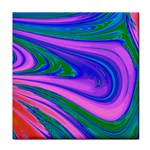 Psychedelic Swirl Pink Tile Coaster