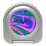 Psychedelic Swirl Pink Travel Alarm Clock