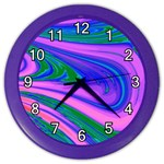 Psychedelic Swirl Pink Color Wall Clock