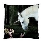 Girl & Her Unicorn Cushion Case (One Side)