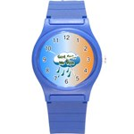 God Gets Me Wet Round Plastic Sport Watch Small