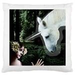 Girl & Her Unicorn Large Cushion Case (One Side)