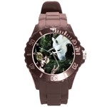 Girl & Her Unicorn Round Plastic Sport Watch Large