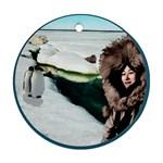 Eskimo Scene Ornament (Round)