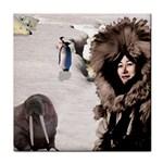 Eskimo Scene Face Towel