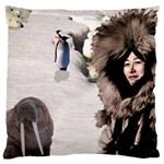 Eskimo Scene Large Cushion Case (One Side)