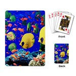 Colorful Fish At Corals Playing Cards Single Design
