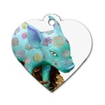 Peculiar Piglet Dog Tag Heart (One Side)