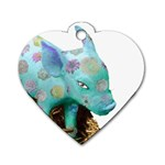 Peculiar Piglet Dog Tag Heart (Two Sides)