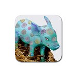 Peculiar Piglet Rubber Square Coaster (4 pack)