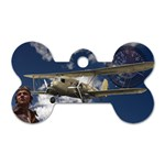 Biplane & Pilot Dog Tag Bone (One Side)