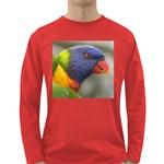 Rainbow Lorikeet Long Sleeve Dark T-Shirt