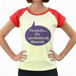 I m Not Fat Women s Cap Sleeve T-Shirt