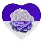Camellia Purple Halves Widest Heart Ornament (Two Sides)