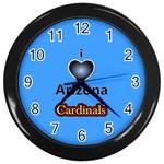 I Love I heart Arizona Cardinals Wall Clock (Black)
