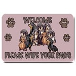 dachshund welcome Large Doormat