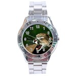 Laught Out Loud  Snarl Cougar Stainless Steel Analogue Men's Watch