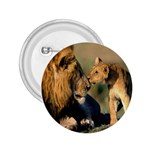 Kissing Mom  Lions 2.25  Button