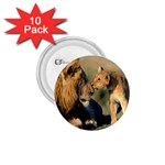 Kissing Mom  Lions 1.75  Button (10 pack)