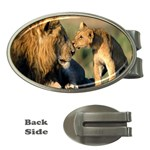 Kissing Mom  Lions Money Clip (Oval)