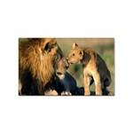 Kissing Mom  Lions Sticker Rectangular (100 pack)