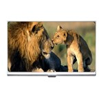 Kissing Mom  Lions Business Card Holder