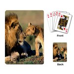 Kissing Mom  Lions Playing Cards Single Design