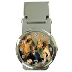 Kissing Mom  Lions Money Clip Watch