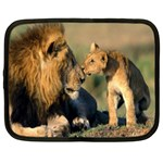 Kissing Mom  Lions Netbook Case (Large)