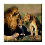 Kissing Mom  Lions Face Towel