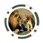 Kissing Mom  Lions Poker Chip Card Guard (10 pack)