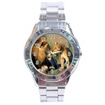 Kissing Mom  Lions Stainless Steel Analogue Men's Watch