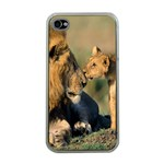Kissing Mom  Lions Apple iPhone 4 Case (Clear)