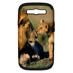 Kissing Mom  Lions Samsung Galaxy S III Hardshell Case (PC+Silicone)