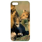 Kissing Mom  Lions Apple iPhone 5 Hardshell Case with Stand