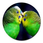 Kiss And Love Lovebird Round Mousepad