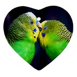 Kiss And Love Lovebird Ornament (Heart)