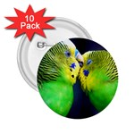 Kiss And Love Lovebird 2.25  Button (10 pack)
