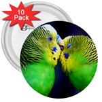 Kiss And Love Lovebird 3  Button (10 pack)