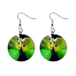 Kiss And Love Lovebird 1  Button Earrings