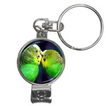 Kiss And Love Lovebird Nail Clippers Key Chain