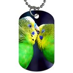 Kiss And Love Lovebird Dog Tag (One Side)