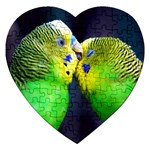 Kiss And Love Lovebird Jigsaw Puzzle (Heart)