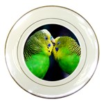 Kiss And Love Lovebird Porcelain Plate