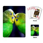 Kiss And Love Lovebird Playing Cards Single Design