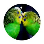 Kiss And Love Lovebird Round Ornament (Two Sides)
