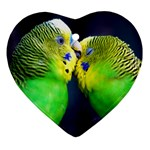 Kiss And Love Lovebird Heart Ornament (Two Sides)