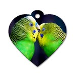Kiss And Love Lovebird Dog Tag Heart (One Side)